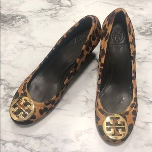 Size 11 Leopard Tory Burch Wedges